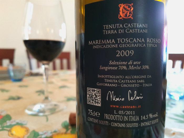 Tenuta di Casteani, Maremma Rosso Toscana 2009