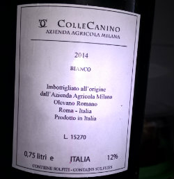 Colle Canino Bianco 2014