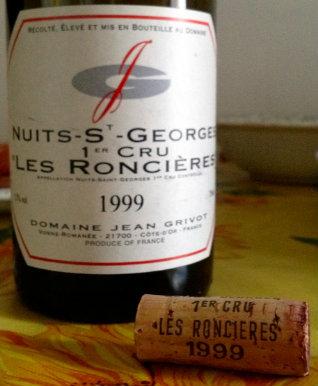 Domaine Jean Grivot Nuits St. Georges 1er Cru Les Roncières 1999