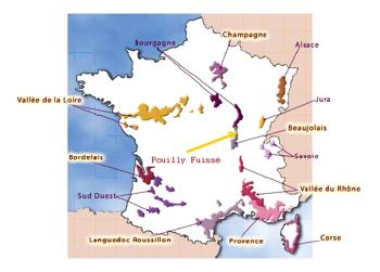 Posizione di Pouilly-Fuissé