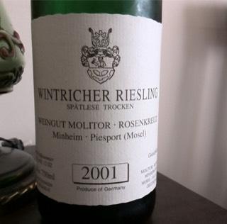 Weingut Molitor-Rosenkreuz Riesling Spatlese Trocken 2001