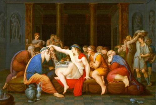 Giambattista Gigola, Il simposio platonico, 1790, Musei Civici di Arte e Storia, Brescia
